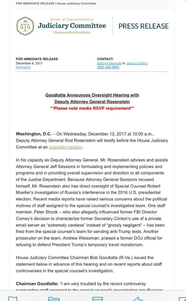 Press Release Rosenstein