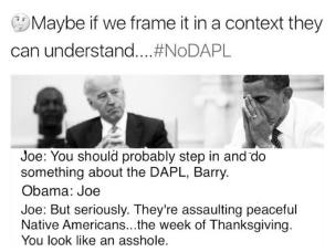 Standing Rock Tanksgiving Biden