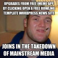 Takes down MSM Rowland Wordpress Template Upgrade iMeme