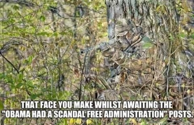 That Face You Make Camoflage Obama Scandal Free