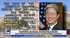 The WIFE of the Senior DOJ Official AD Atty Gen Worked for Fusion GPS
