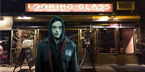 Through the Looking Glass Bar BANNER Rami Malek