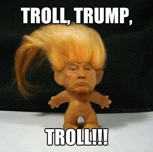 ! Troll Trump Troll Doll
