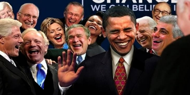 w^ 3 Laughing Politician Obama Democrat Globalists