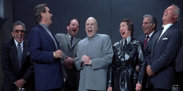 w^ Laughing Politicians Dr. Evil Gang Austin Powers
