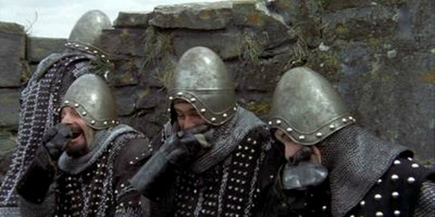 w^ z Monty Python - Taunting French Knights Laugh