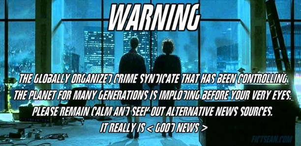 ! WARNING ! Fight Club Ending Buildings Blowing Up BANNER Wide 1100
