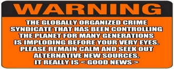 ! WARNING Remain Calm and Seek out Alternative News Sources BANNER Clockwork