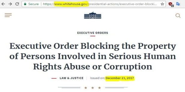 White House .gov Executive Order
