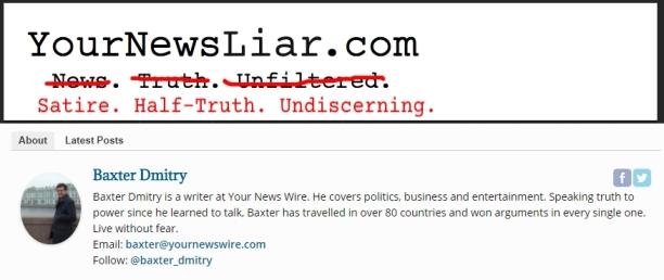 ! YourNewsLiar YourNewsWire Baxter Dmitry