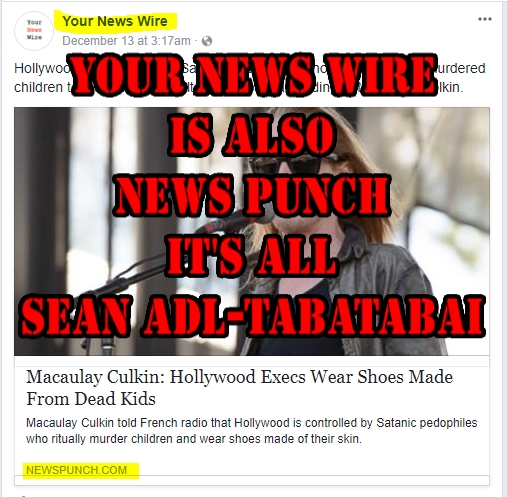 YourNewsWire is also NewsPunch Sean Adl-Tabatabai2