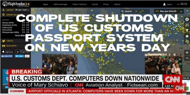 180102 Complete Shutdown of US Customs Passport System on New Years Day BANNER