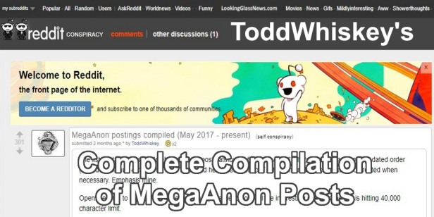 180104 MegaAnon Postings Compliled May 2017 through Present BANNER ToddWhiskey