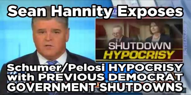 180120 Sean Hannity Exposes Democrat Hypocrisy BANNER