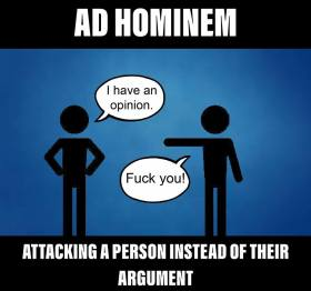 Ad Hominem Personal Attack b