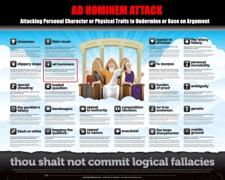 Ad Hominem Thou Shalt Not Commit Logical Fallacies