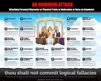Ad Hominem Thou Shalt Not Commit Logical Fallacies