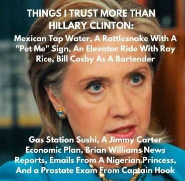 ! Bigfoot has more credibility than Hillary Statistics 2