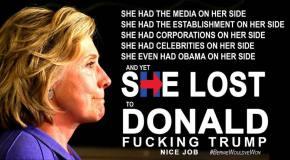 Biggest Loser Hillary Lost to Trump