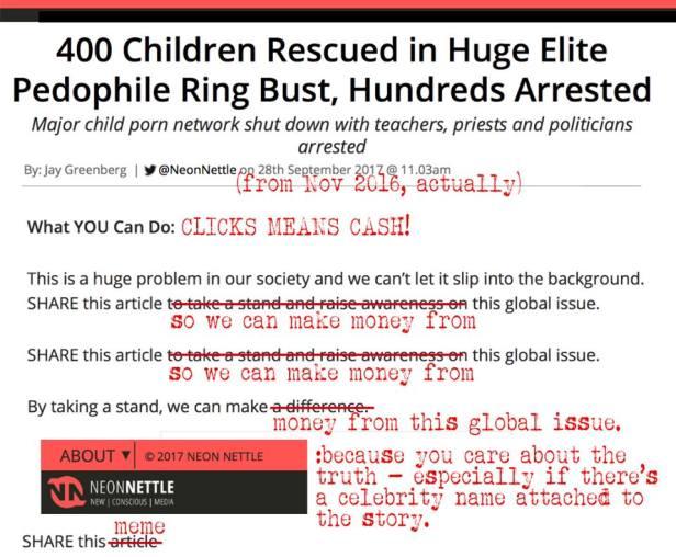 Clickbait Headlines NeonNettle 400 Pedophiles