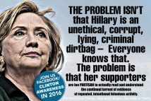 ! Clinton Supporters Too Partisan