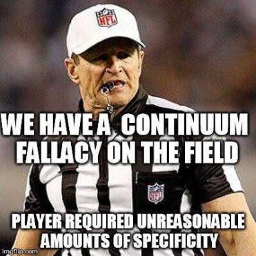 Continuum Fallacy Unreasoanble Amount of Specificity