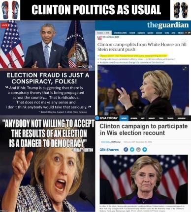 ! Election Fraud Recount Clinton Politics as Usual