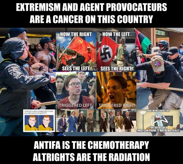 ! Extremism and Agent Provocatuers Chemo Radiation