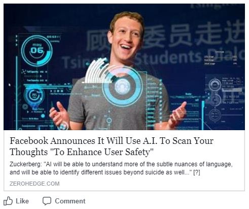 Facebook uses AI