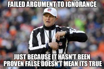 Failed Argument to Ignorance