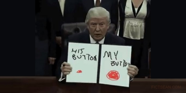 His Button My Button Trump NK BANNER