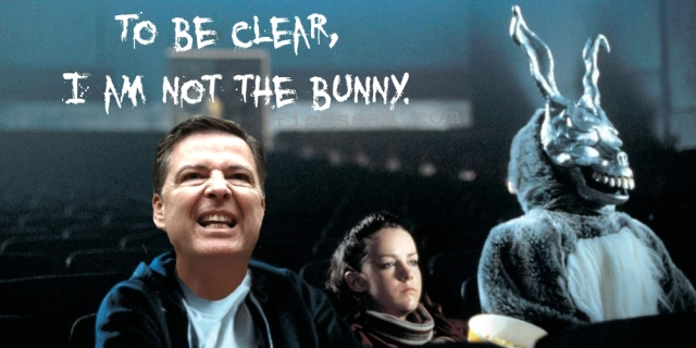 James Comey I am NOT the Bunny Donnie Darko BANNER