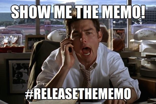 ! Jerry Maguire Show me the Memo ReleaseTheMemo Money
