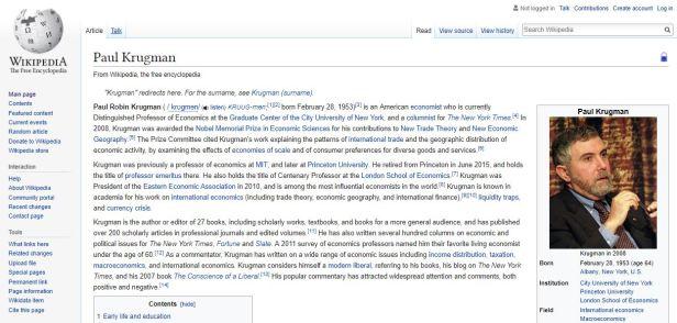 Paul Krugman Wikipedia