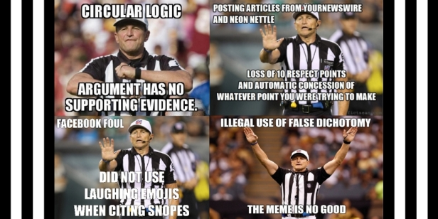 ! Referee Logic Infractions Collage 4-Up BANNER