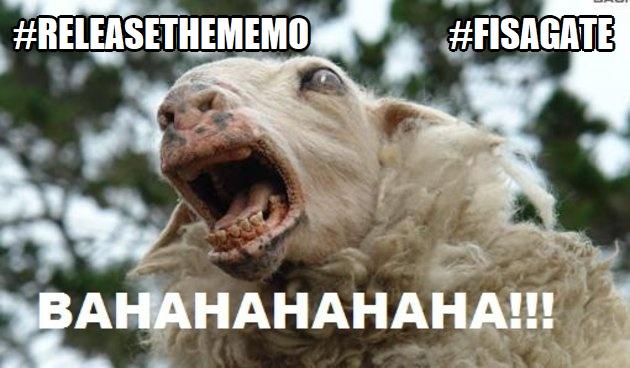 ! ReleaseTheMemo FISAGate Goat Bwhahahaha
