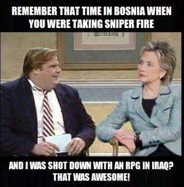 ! Remember that time in Iraq and Bosina, that was AWESOME