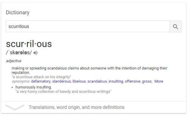 Scurrilous