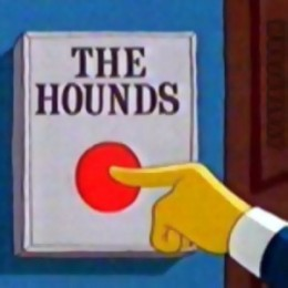 Simpsons Mr Burns Release The Hounds Button 2