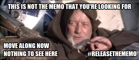! Start Wars Obi Wan Release the Memo This isn't the Memo You've Been looking for
