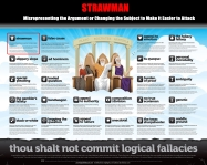 Strawman Thou Shalt Not Commit Logical Fallacies
