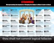Strawman Thou Shalt Not Commit Logical Fallacies