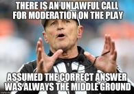 Unlawful Moderation - Assumed Answer Lies in Middle Ground