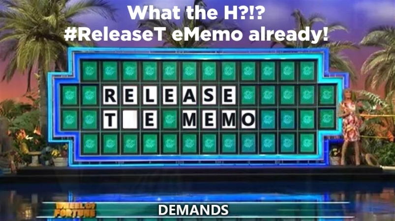 ! Wheel of Fortune Release the Memo What the H