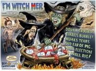! Witch hillary-halloween-cartoon_1