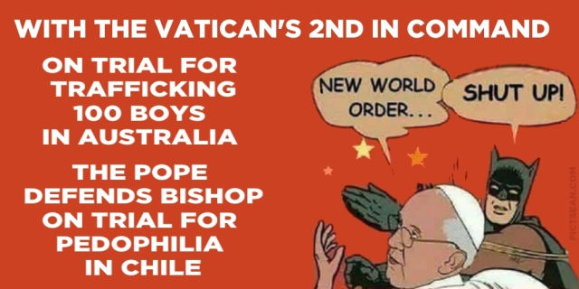 With the Vatican 2nd in Command on Trial Pope Defends Bishop in Chile BANNER
