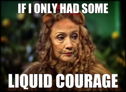 Wizard of Oz Cowardly Lion Hillary Clinton Liquid Courage
