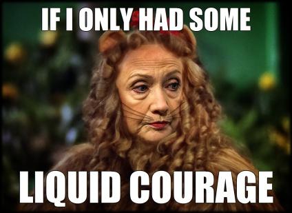 Wizard of Oz Cowardly Lion Hillary Clinton Liquid Courage