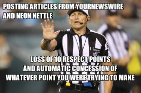 YourNewsWire Referee Loss of 10 Respect Points and Concession of Point