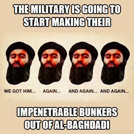 al-Baghdadi Death Near Experience Military Impenetrable Bunkers
